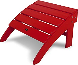 product image for POLYWOOD SBO22SR South Beach Adirondack Ottoman, Sunset Red