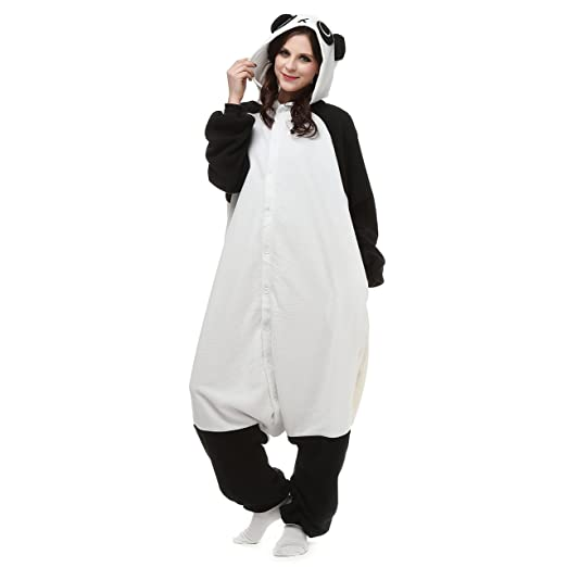 d569aff994 VU ROUL Kungfu Panda Onesie for Men s Pajamas Size Small Black White