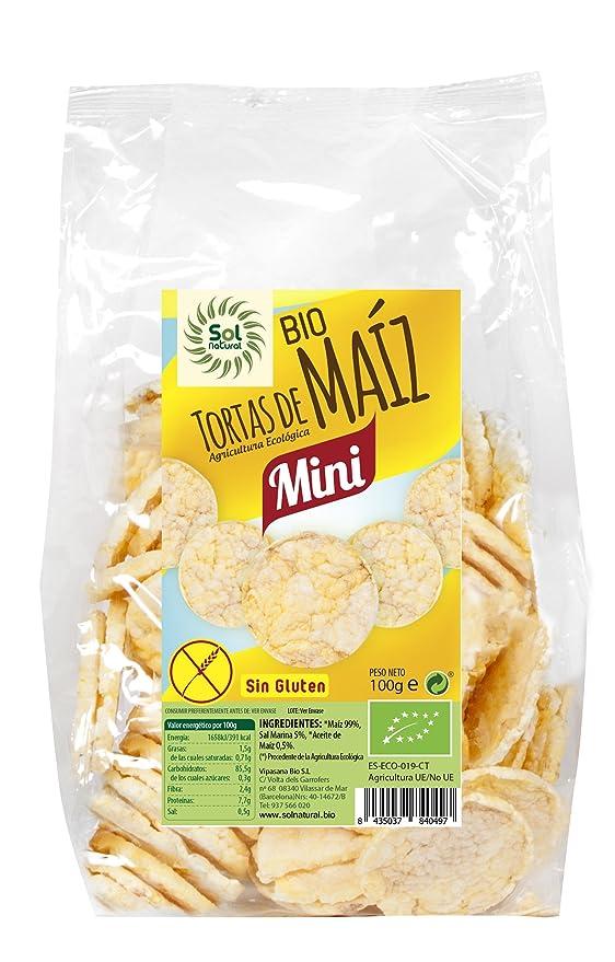 Sol Natural Mini Tortas de Maíz, sin Gluten - Paquete de 12 ...