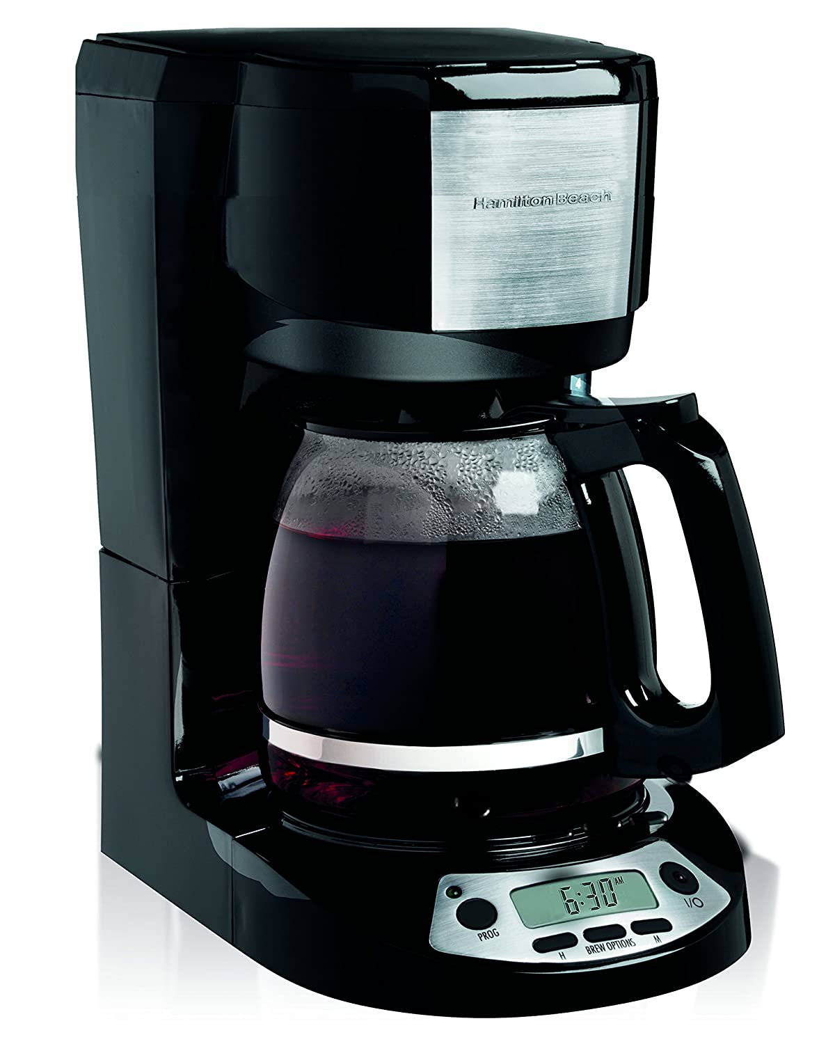 Hamilton Beach 49615C 12 Cup Programmable Coffee Maker Black