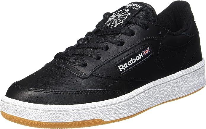 Reebok Club C 85 Sneakers Fitnessschuhe Herren Schwarz/Weiß