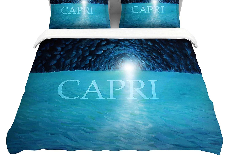 104 x 88 104 x 88 Kess InHouse Theresa Giolzetti The Blue Grotto of Capri King Cotton Duvet Cover