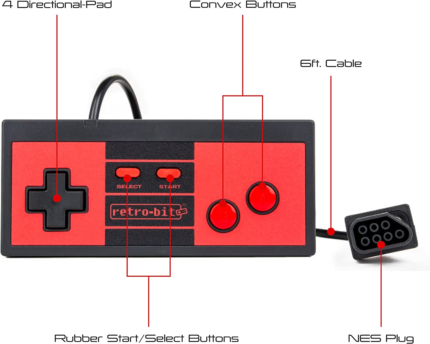 Amazon com: Retro-Bit RES Plus- 8-Bit Console with HDMI Port - NES