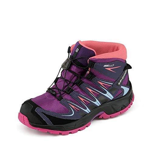 Salomon L39029800, Botas de Senderismo para Niños, Morado (Passion Purple/Nightshade Grey/Deep), 27 EU: Amazon.es: Zapatos y complementos