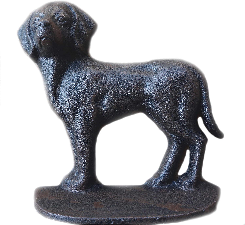 Cast Iron Decorative Dog Door Stopper with Rod Door Stop with Rod LuLu Decor