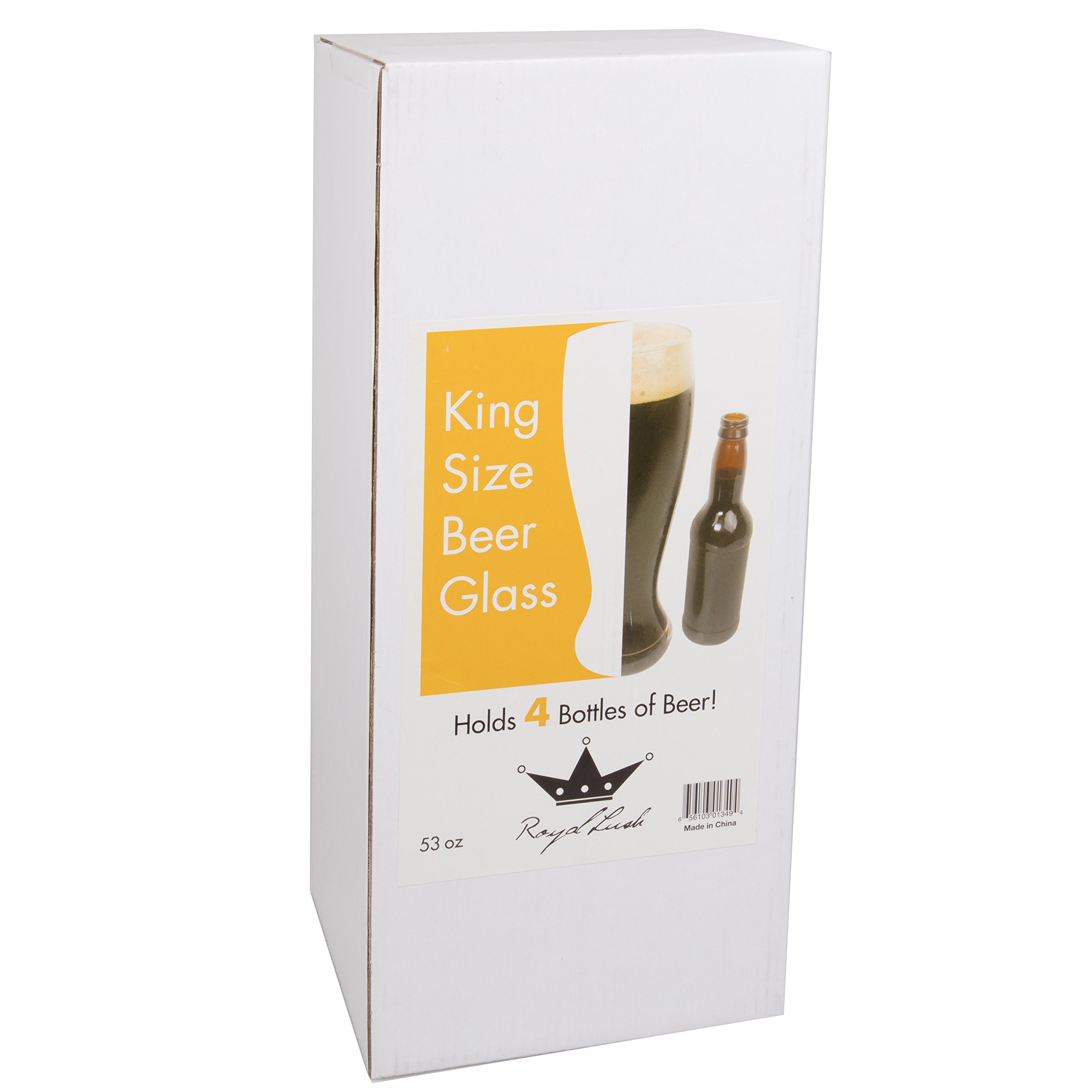 Oversized Extra Large Giant Beer Glass - 53oz - Holds up to 4 Bottles of Beers by Royal Lush (Image #2)