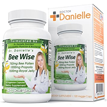 Dr  Danielle's Bee Wise -- Bee Well, Royal Jelly, Propolis, Beepollen in 4  Daily Capsules