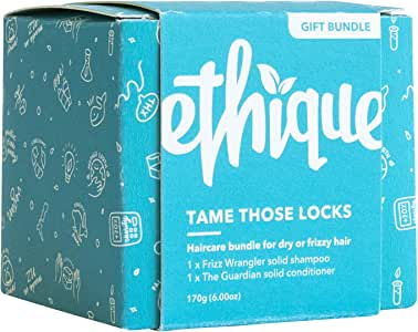 Ethique Eco-Friendly Shampoo & Conditioner Bar Bundle for Dry Hair - Sustainable & Natural Bars, 100% Soap Free, pH Balanced, Vegan, Plant Based, Palm Oil Free, 100% Compostable & Zero Waste, 6oz