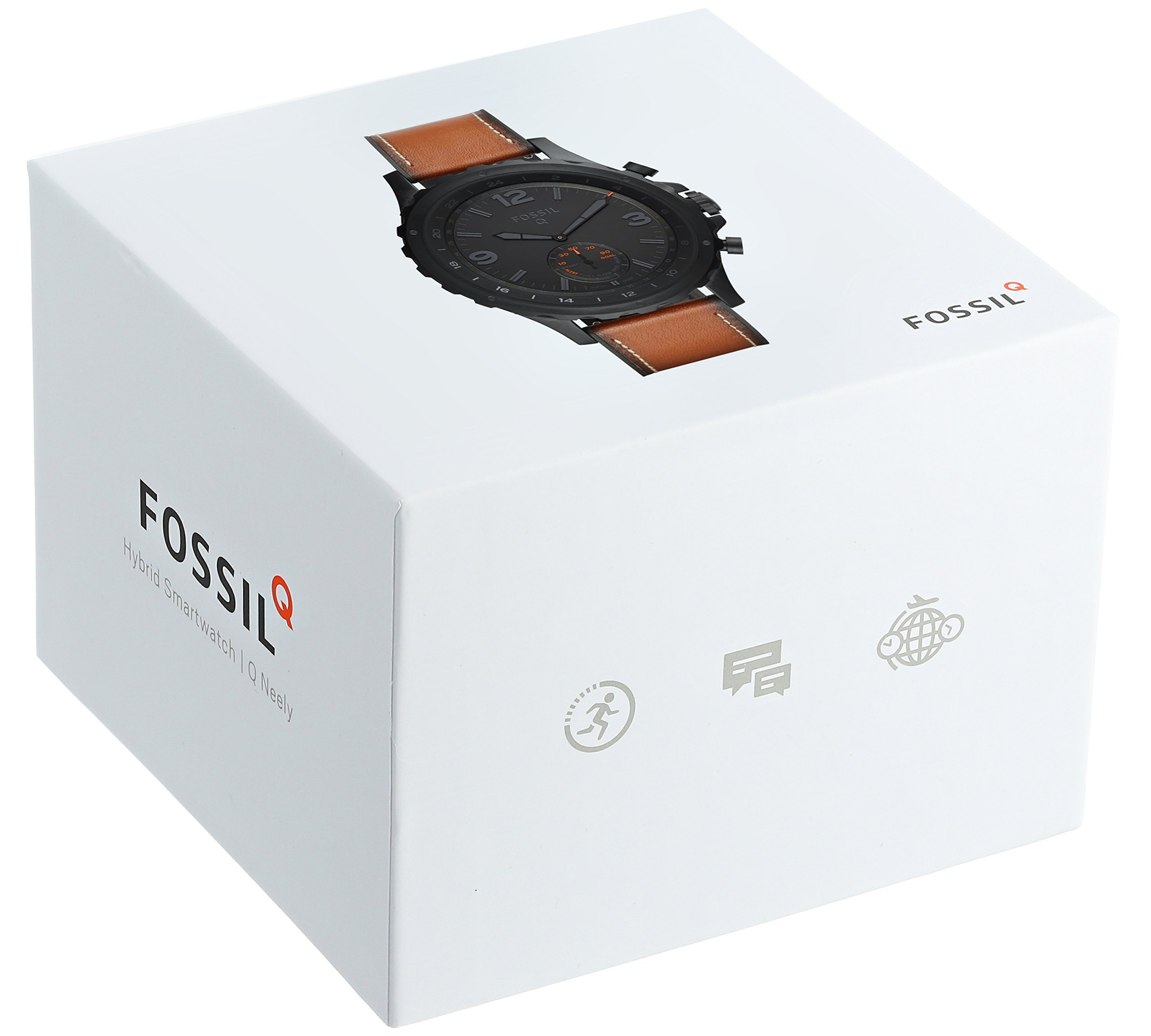Fossil Hybrid Smartwatch - Q Nate Dark Brown Leather by Fossil (Image #4)