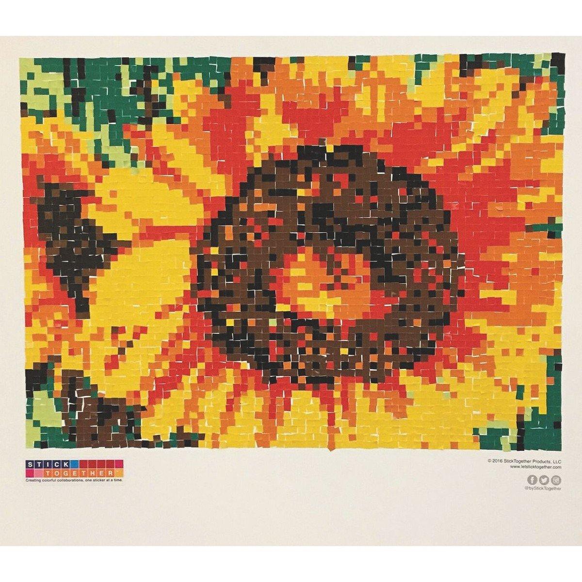 STICK TOGETHER Sunflower Collaborative Sticker Mosaic