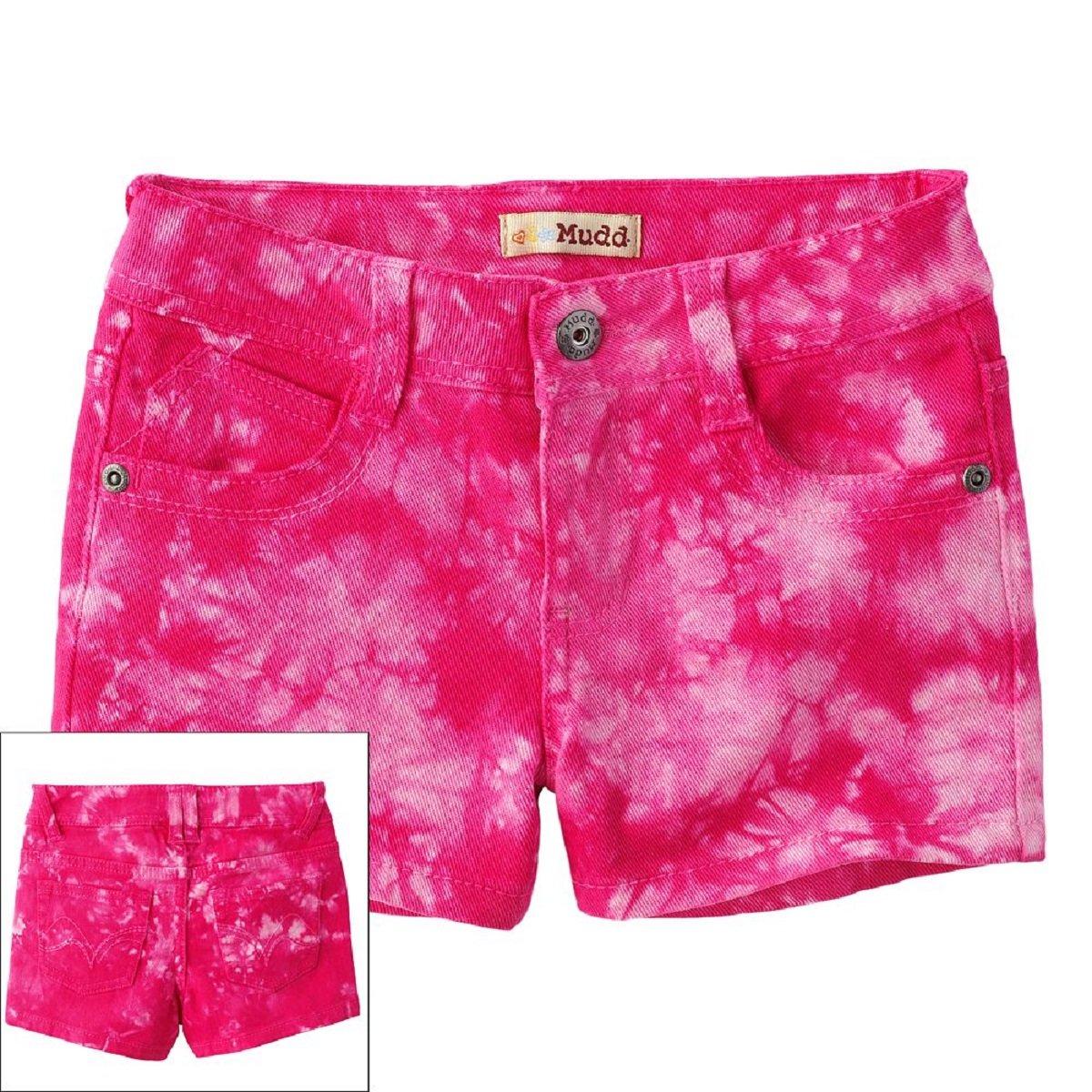 Mudd Little Girls Tie Dye Denim Shorts