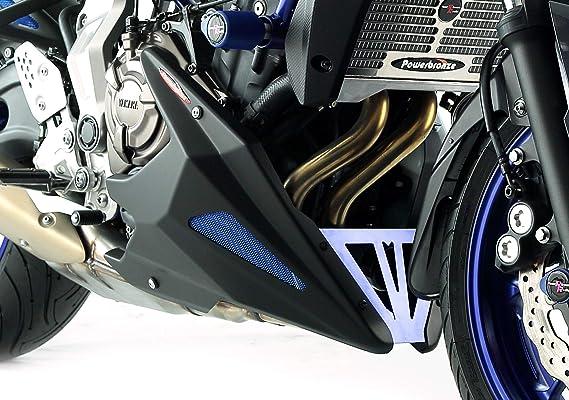 MATT BLACK-SILVER MESH for YAMAHA 320-Y118-670 18-19 Powerbronze Belly Pan FJ-09 TRACER GT 15-19,MT-09 TRACER GT 15-19 MT-09 TRACER 18-19 FJ-09 TRACER