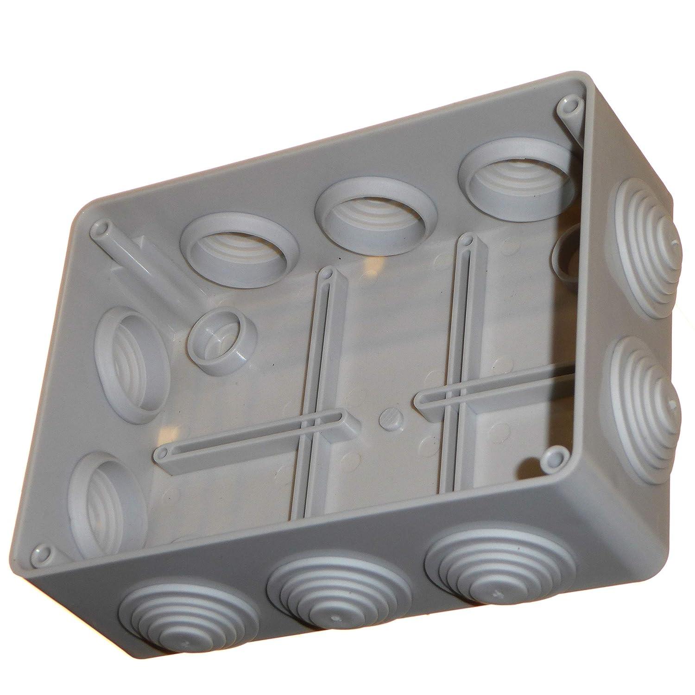 Caja de conexiones de 150 mm con ojales impermeables IP56 cable de iluminaci/ón para exteriores conexi/ón el/éctrica carcasa de pl/ástico PVC adaptable