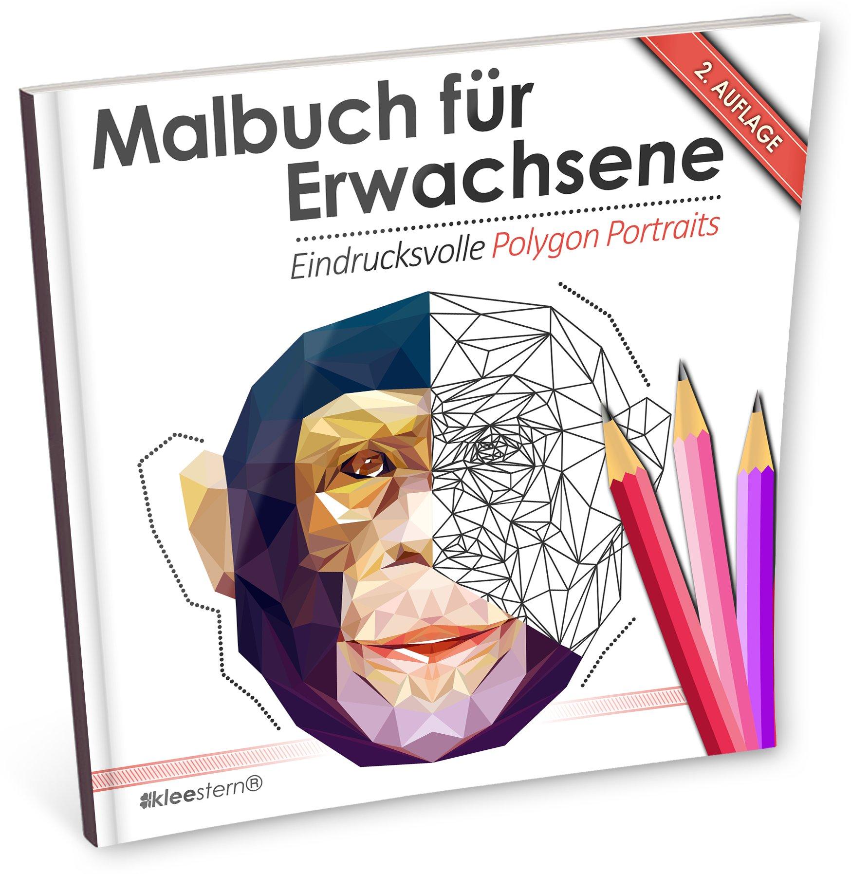 Malbuch für Erwachsene: Eindrucksvolle Polygon Portraits Ausmalen ...