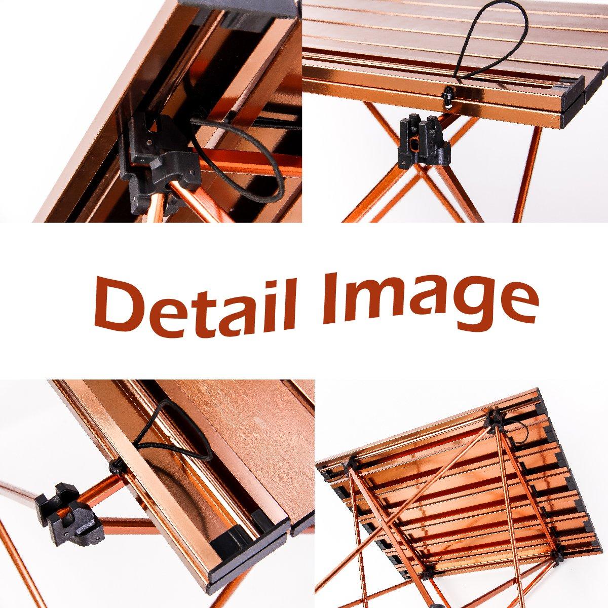 TRIWONDER Ultralight Pliage Camping Table en Aluminium Portable Pliable Roll-Up Table pour Camping en Plein Air Pique-Nique Barbecue Plage De P/êche