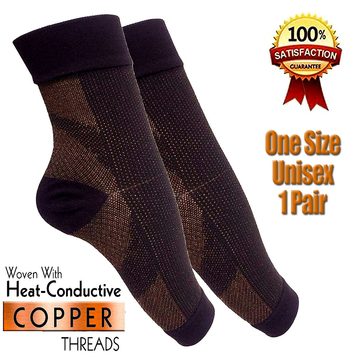 COPPER Compression Sleeve - Anti-Fatigue - Medical Compression Ankle Socks