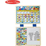 Melissa&Doug 磁铁日历 儿童计划表/任务奖励图/日程表 挂式干擦板 (含133块磁贴,一块日历模板,一块空白磁板)