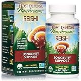 Host Defense, Reishi Capsules, Supports General Wellness and Vitality, Daily Mushroom Mycelium Supplement, USDA Organic, 60 Vegetarian Capsules (30 Servings)