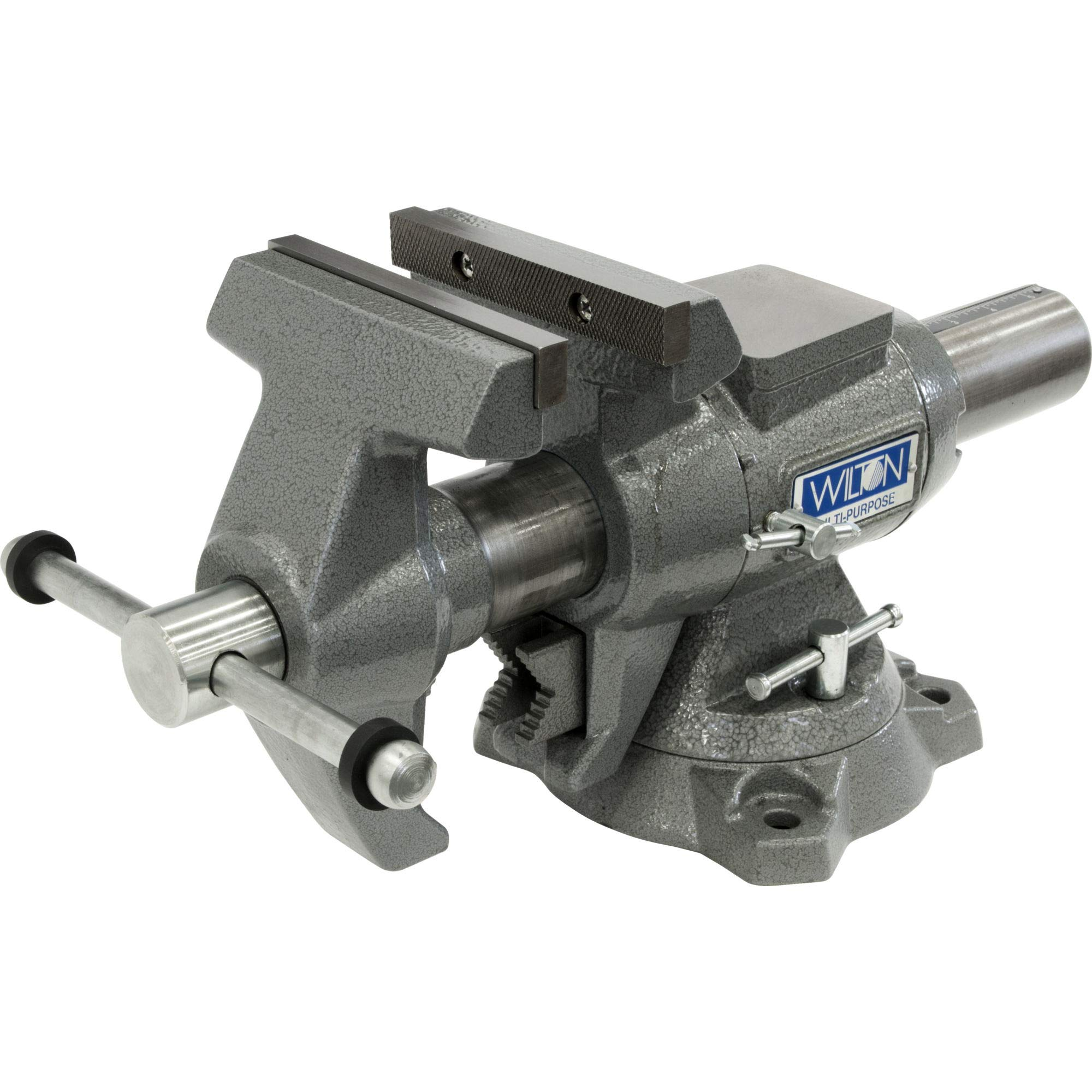 550P, Multi-Purpose Bench Vise, 5-1/2'' Jaw Width, 5'' Jaw Opening, 360° Rotating Head by Unknown