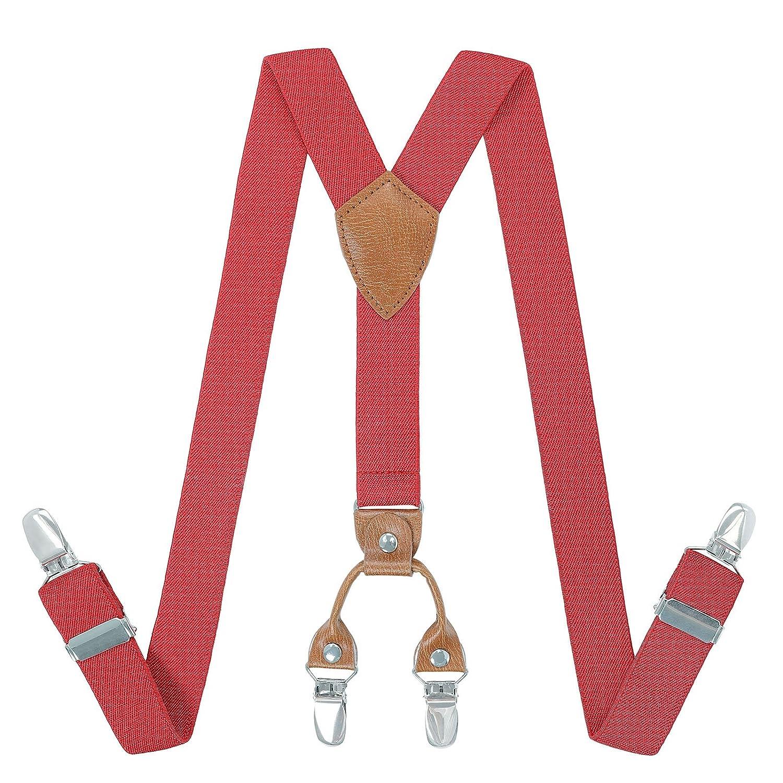 Hommes Garçon Bretelles Réglables élastique - 4 Taille Y Forme 4 Forts Clips Bretelles Femmes Fille