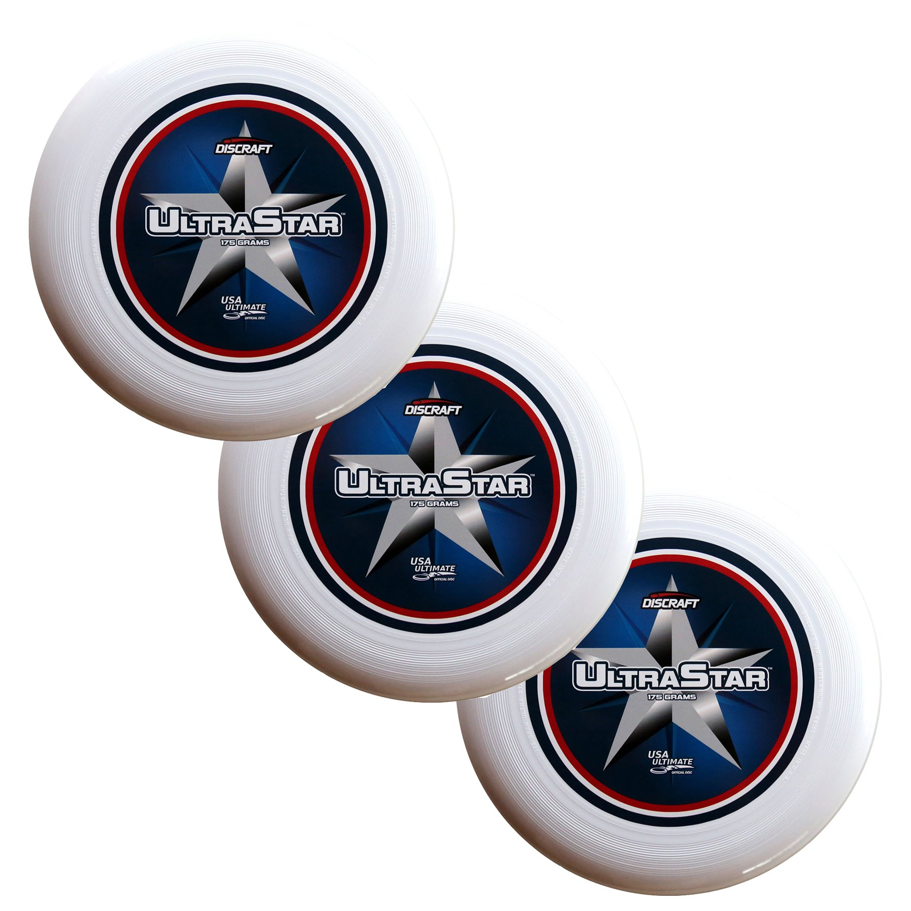 Discraft SuperColor Ultra-Star 175g Ultimate Sportdisc Center Print (3 Pack) by Discraft