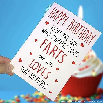 Happy Birthday Cards Husband Wife Funny Boyfriend Girlfriend Friend Card Farts Fun PC120 Amazonca