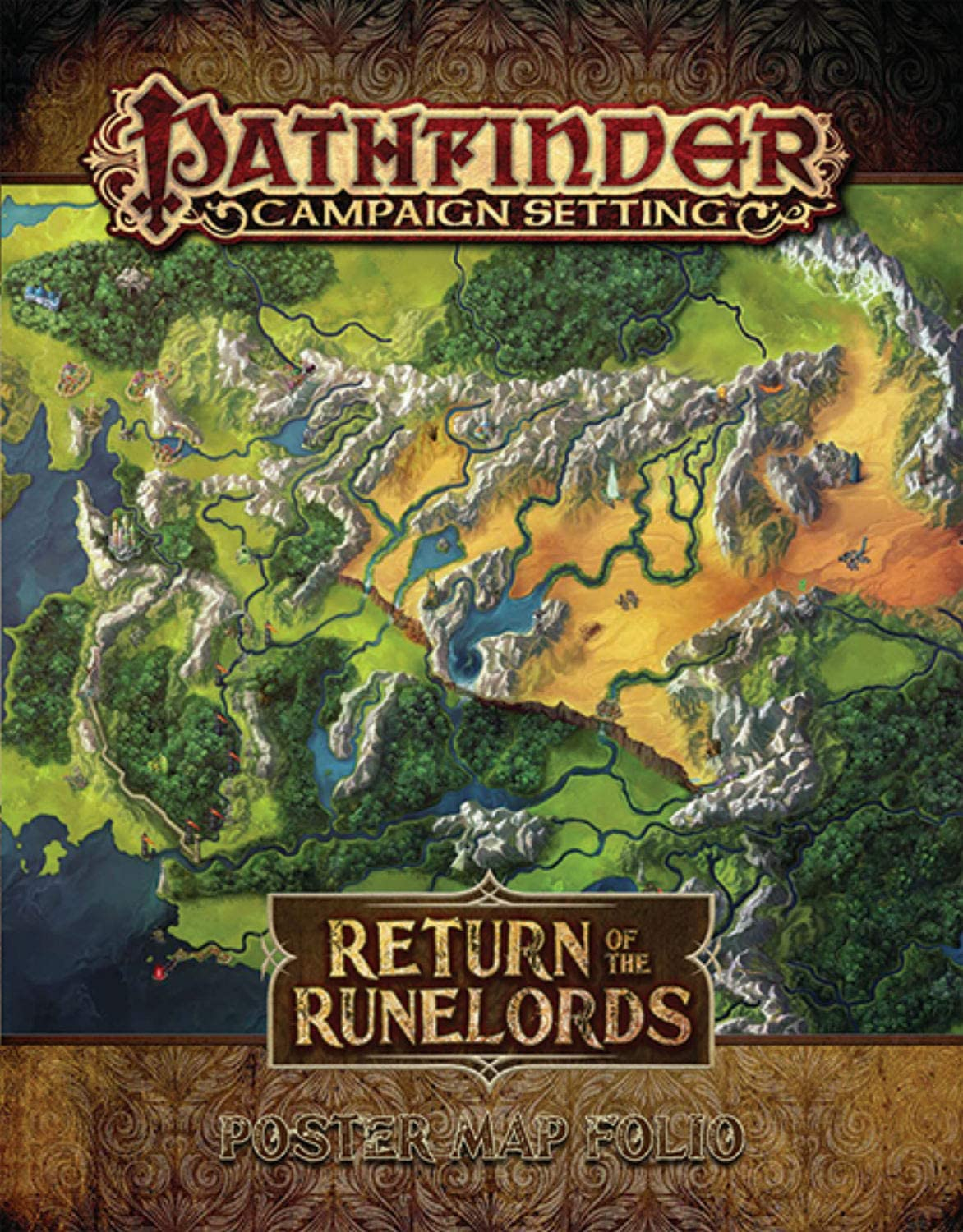 Pathfinder Campaign Setting: Return of the Runelords Poster Map Folio: Amazon.es: Juguetes y juegos