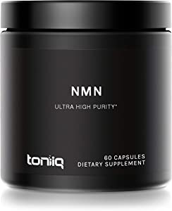 Ultra High Purity Stabilized NMN Capsules - 99.7% Pharmaceutical Grade - 300mg Per Serving - Naturally Boost NAD+ Levels - 60 Capsules NMN Nicotinamide Mononucleotide Supplement