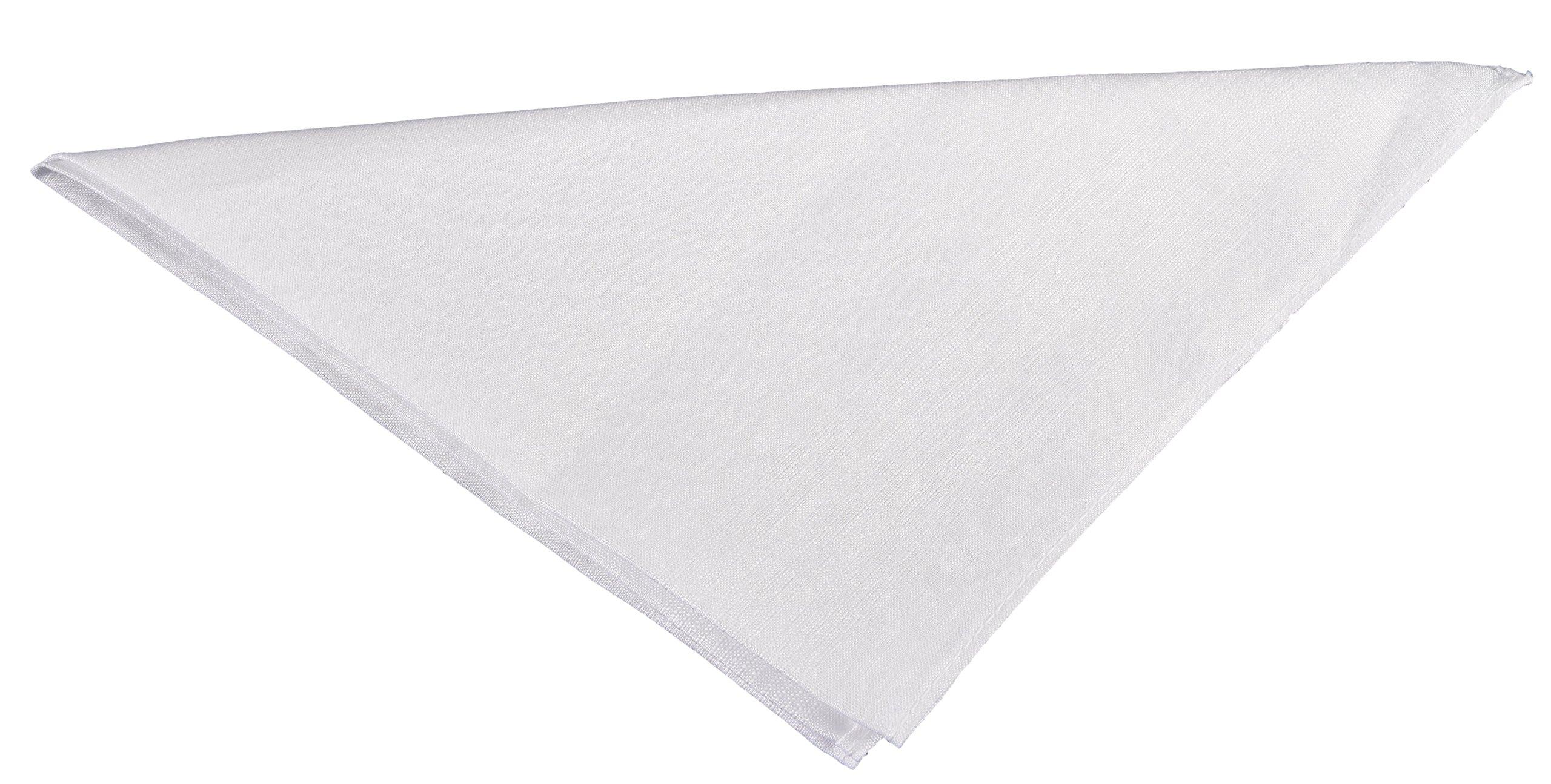 Thomas Ferguson - Gentlemen's Corded Irish Linen Handkerchief, White - Pack of 3 - BH176