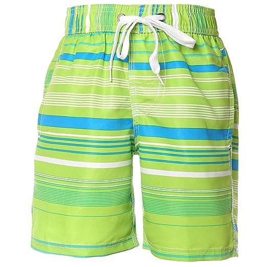 9c554ed4d4d06 SEEYAN Little Boys Kids Beach Board Shorts Swim Trunks Quick Dry Breathable  with Meshing Line (