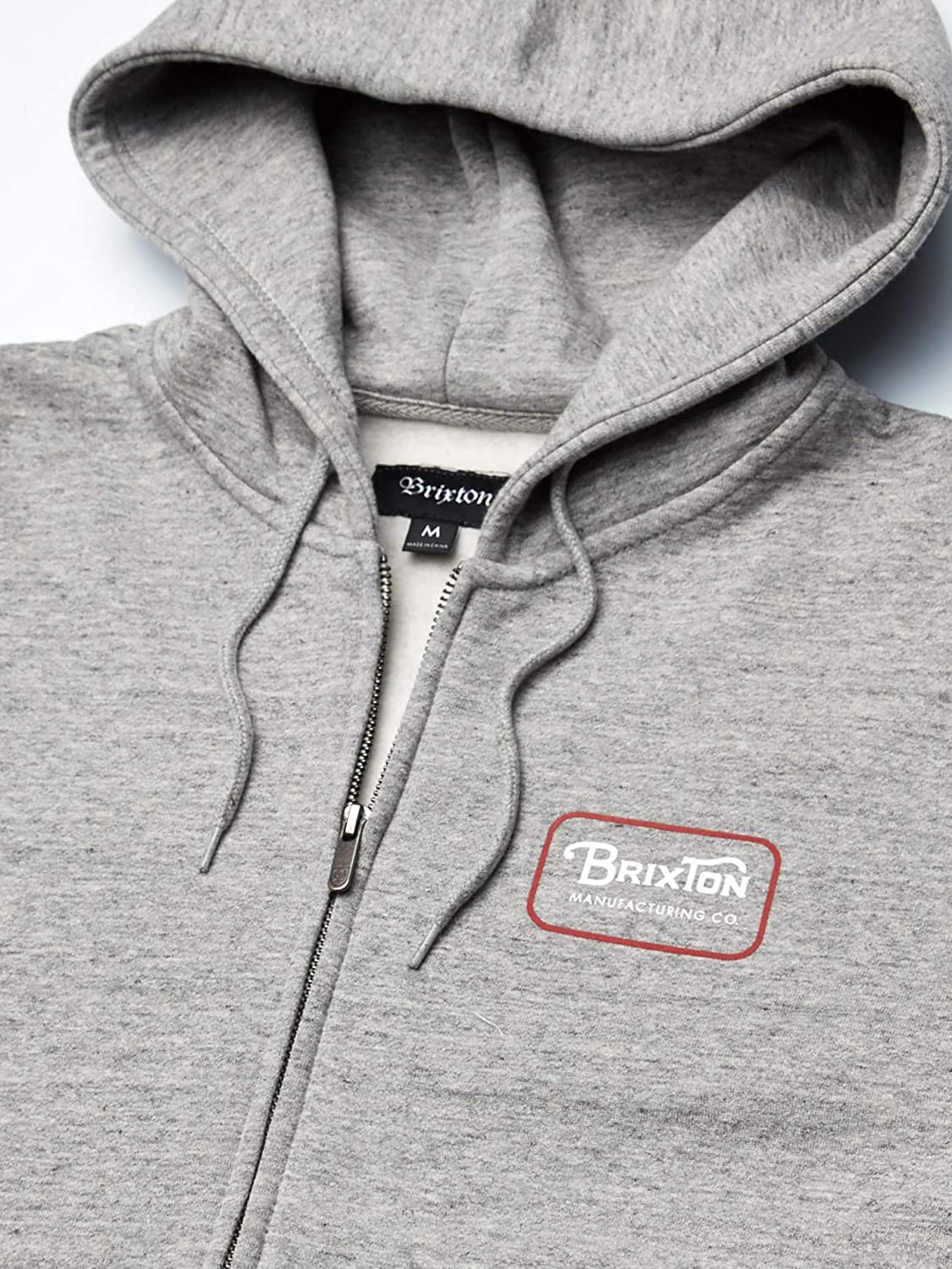 BRIXTON Mens Grade V Standard Fit Full Zip Hooded Fleece Hooded Sweatshirt