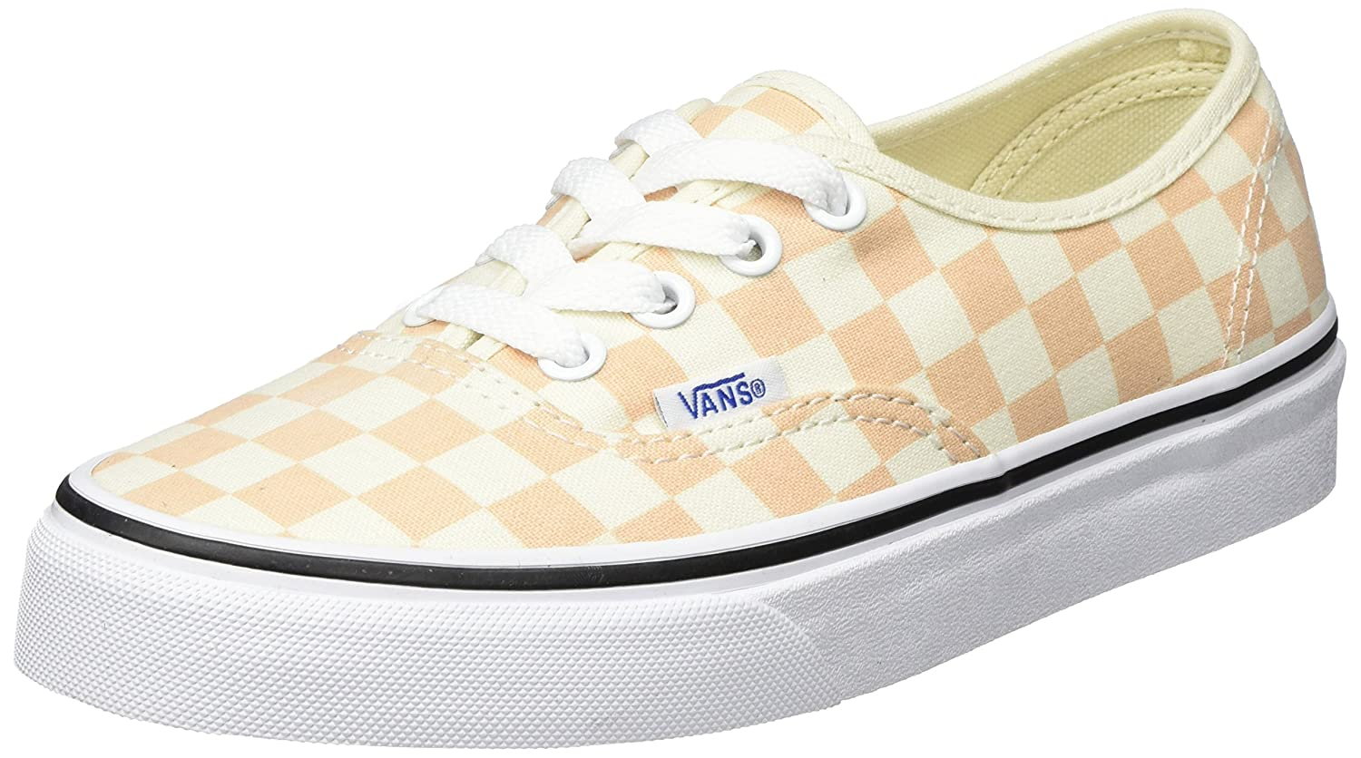 Vans Authentic, Zapatillas Para Mujer 36.5 EU|Naranja (Checkerboard)