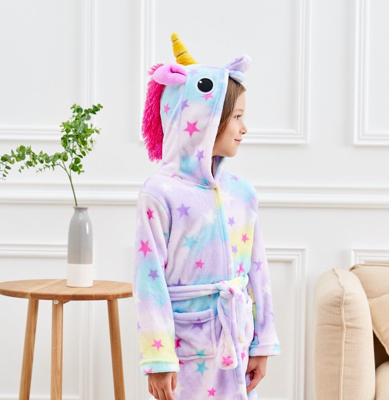 Robe for Girls Unicorn Bathrobe Matching Doll /& Girls