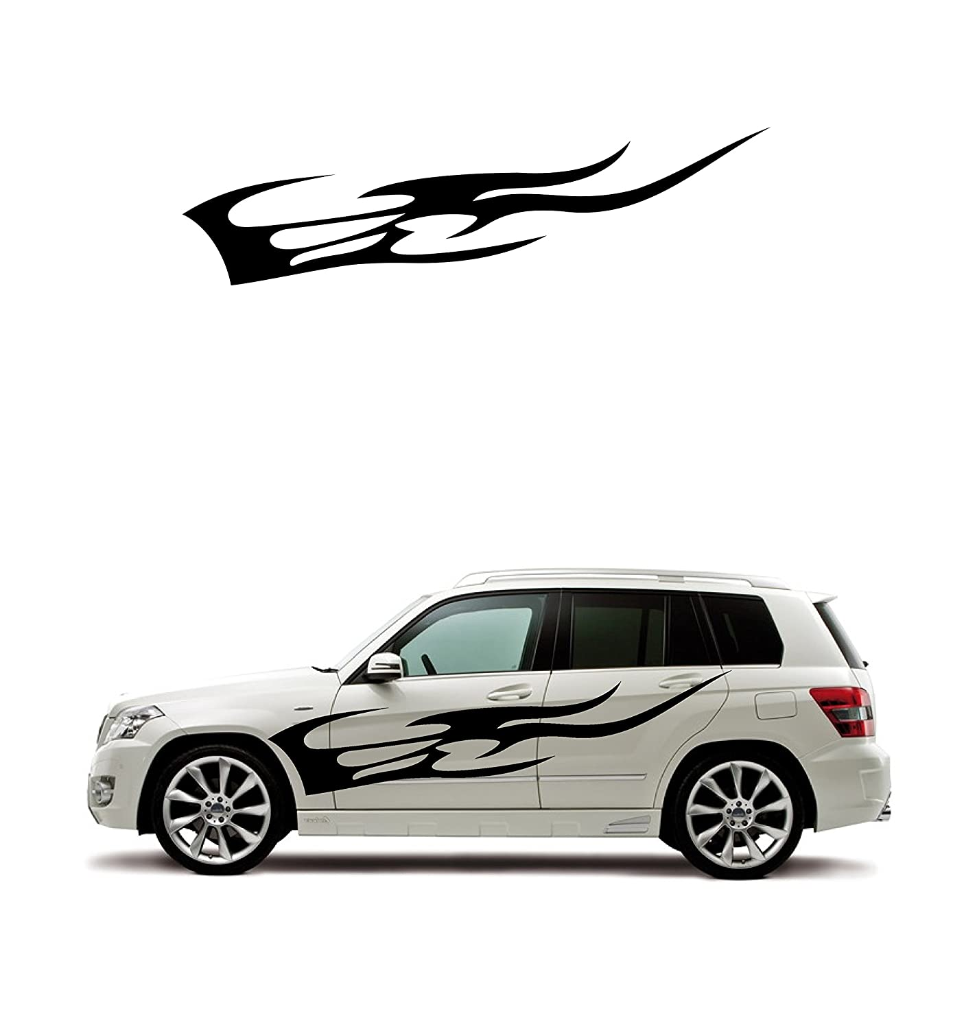 Amazon com fire pattern stickers sophisticated design car body sticker left and right set automotive