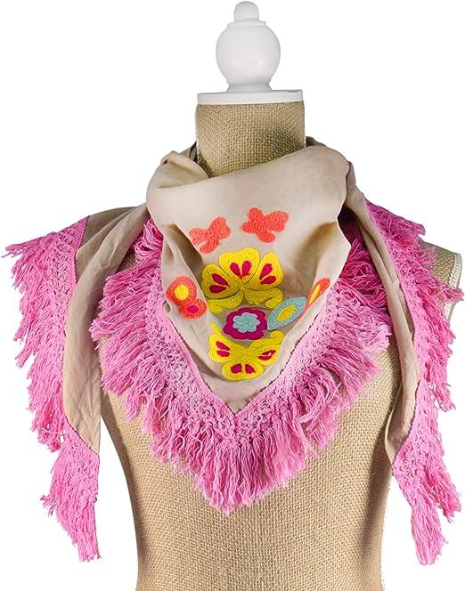 Sigris - Pañuelo Moda Algodón 150 cm: Amazon.es: Hogar