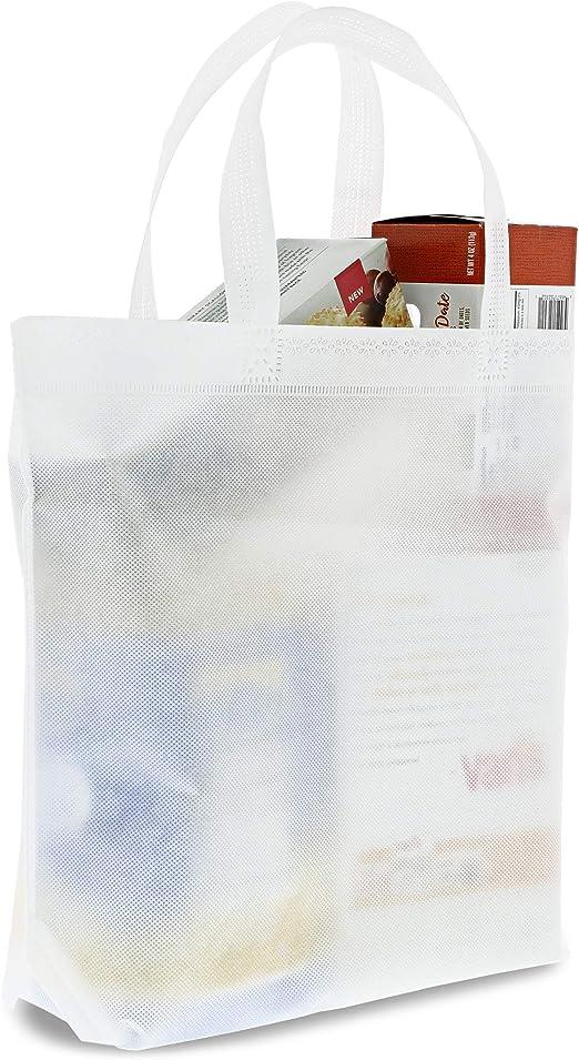 Bolsas blancas para bolso – 20 unidades no tejidas al por mayor, bolso de regalo promocional para