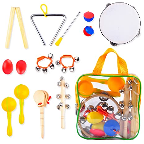 3838ef4a54fb Buy aGreatLife Kids Musical Instruments - Percussion Starter Kit 9 ...