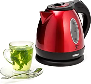 Moss & Stone Rapid Boil Electric Kettle, Cordless Pot 1.2L Portable Electric Hot Water Kettle, 1500W Strong d Tea Kettle (Red)
