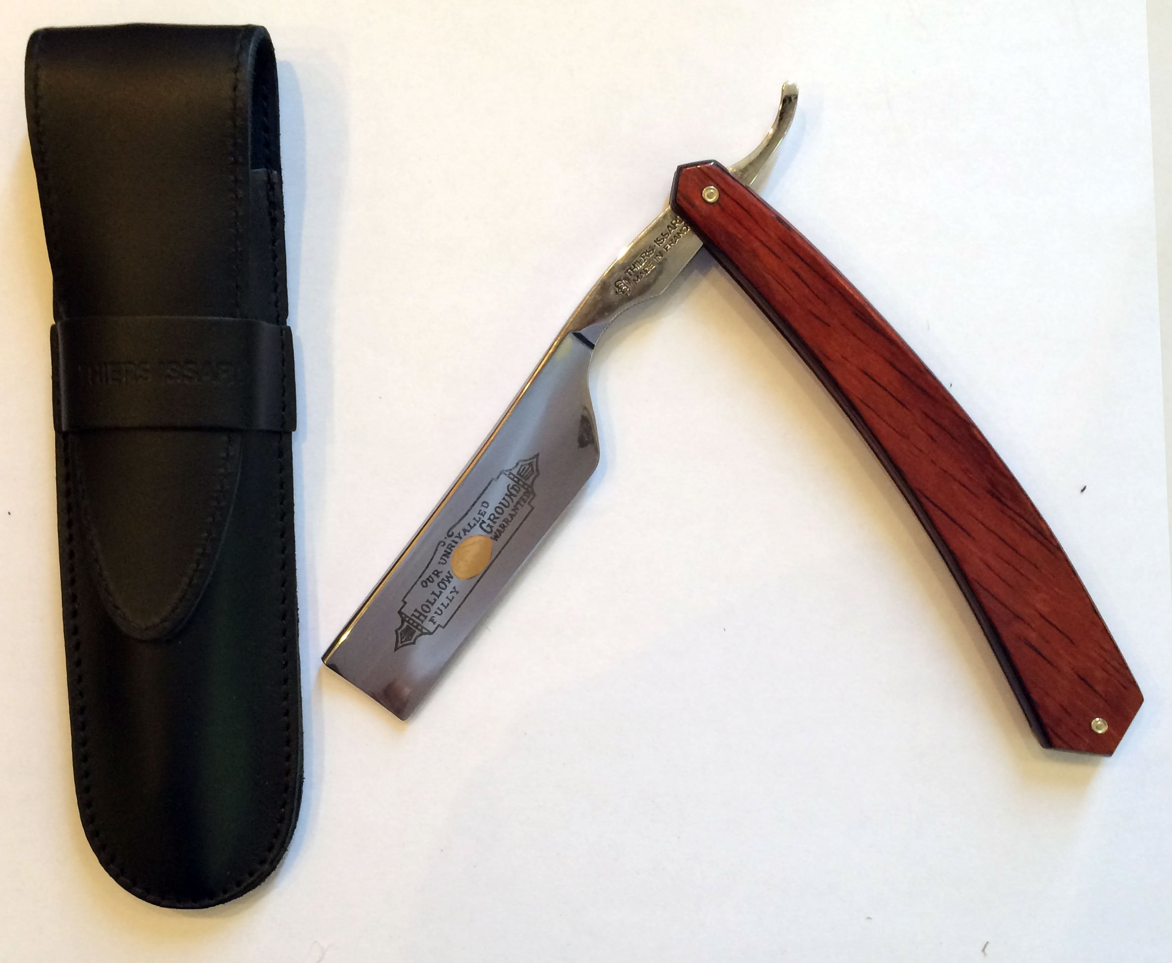 THIERS ISSARD ''BISON'' 7/8 STRAIGHT RAZOR, SQUARE NOSE, RED STAMINA HANDLE