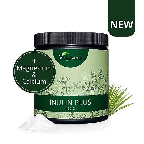 Inulina Orgánica Vegavero® | 450 g en Polvo | Con CALCIO + ...