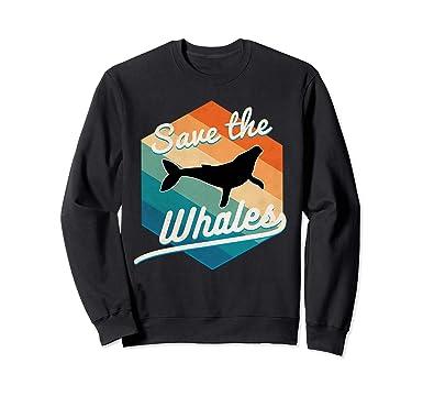 a1c29ee94 Amazon.com: Save the whales sweatshirt retro vintage 70s style: Clothing