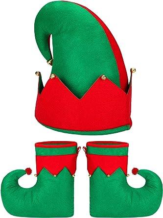 Conjunto de 3 Piezas Conjunto de Disfraz de Duende navideño ...