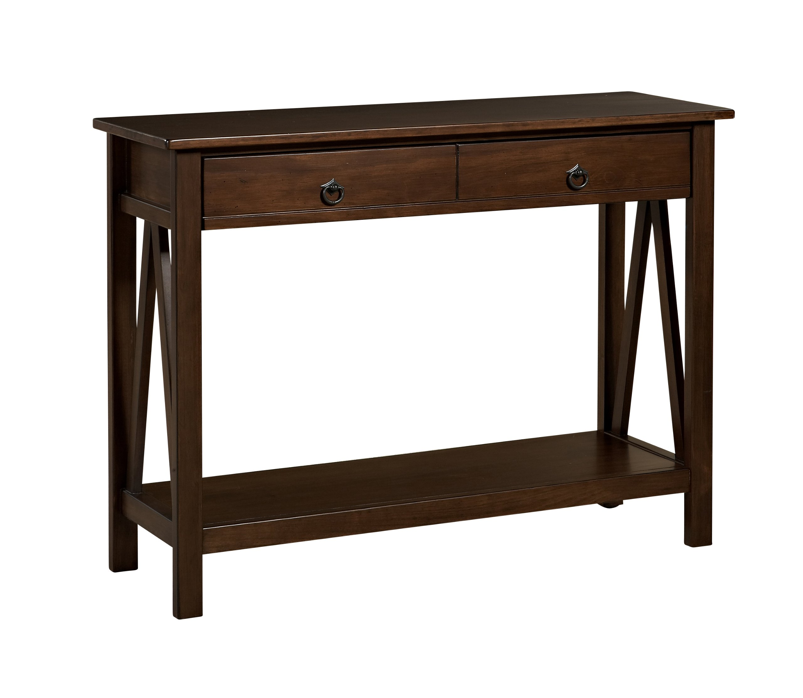 Linon Home Dcor 86152ATOB-01-KD-U Console Table, 42.01'' w x 13.98'' d x 30.71'' h, Antique Tobacco by Linon