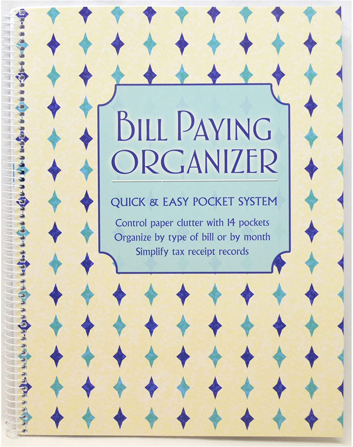 Monthly Bill Paying Organizing Organizer Budget Book with Pockets - Includes Get Out of Debt Tips - Mosaic