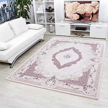 Modern Designer Hochwertige Acryl Teppiche Für Wohnzimmer, Esszimmer,  Schlafzimmer,Orient Barock Medaillon Motive