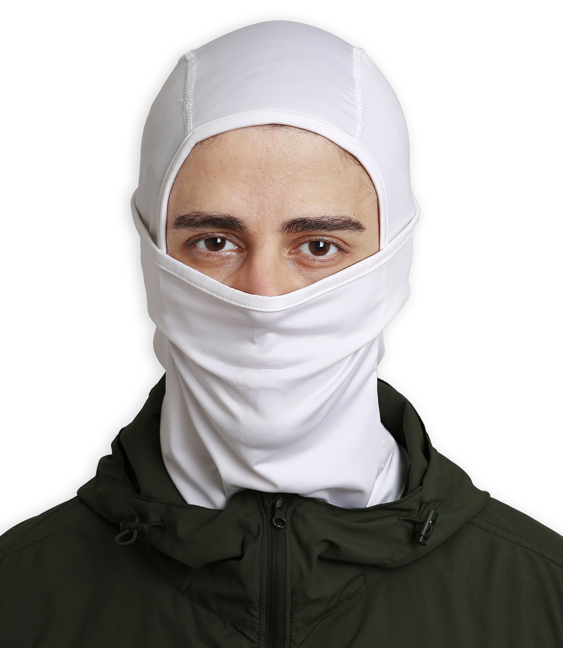 Tough Headwear Balaclava/Windproof Ski Mask/Cold Weather Face Mask for Skiing, Snowboarding, Motorcycling & Winter Sports - Ultimate Protection from The Elements. Fits Under Helmets (White)