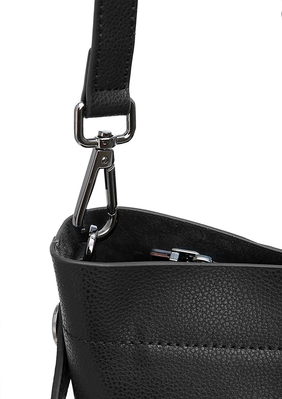 36dd2a3e1fed Amazon.com  Iswee Womens Leather Bucket Bag Hobo Shoulder Handbags Top-handle  Tote Bags Satchel Designer Purse Crossbody Bag for Ladies (Black)  Shoes