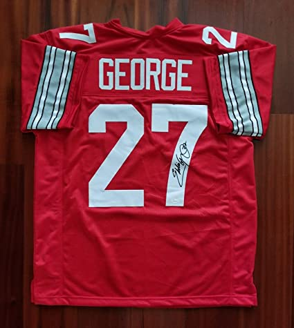 1714a99782c Eddie George Signed Jersey - JSA Certified - Autographed College Jerseys