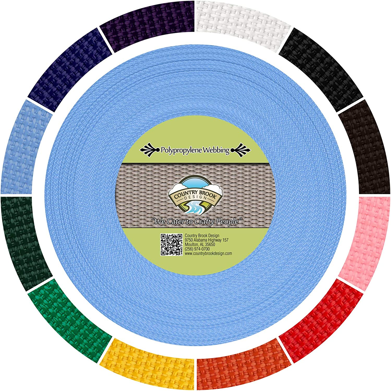 Baby Blue, 50 Yards, 1 Inch Polypropylene Webbing Country Brook Design