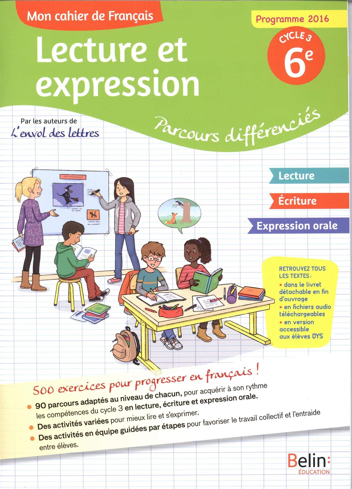 Mon Cahier De Francais Lecture Et Expression Parcours